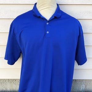 Nike Golf SzXL Short Sleeve Blue Polo Shirt